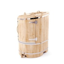 Фитобочка кедровая овальная со скосом, 130*75/100*2,5 см