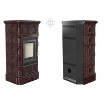 Kratki Blanka 8kW stove кафель (коричневый) печь-камин