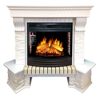 Портал угловой Pierre Luxe сланец белый D25 белый 1310х1075х880 (Royal Flame)