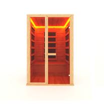 Инфракрасная сауна 2-х местная (кедр) с пленочными излучателями, 135*105*200 см