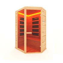 Инфракрасная сауна 2-х местная угловая (кедр) с пленочными излучателями, 135*105*200 см