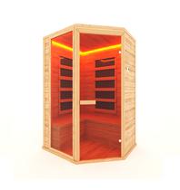 Инфракрасная сауна 3-х местная угловая (кедр) с пленочными излучателями, 160*115*200 см