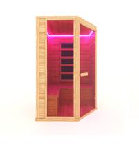 Инфракрасная сауна 4-х местная угловая (кедр) с пленочными излучателями, 150*150*200 см