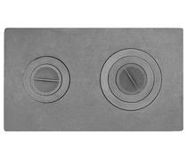 Плита печная цельная с конфорками, 710*410, 12мм