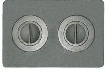 Плита печная цельная с конфорками, 510*340