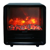 Quaddro черный (REAL FLAME) электрическая печь
