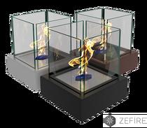 Биокамин Quant metall черный/белый ZeFire 230х255х230 мм