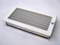 Решетка вентиляционная 17х30 белая с жалюзи KRATKI (Польша)