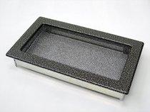 Решетка вентиляционная 17х30 черная/хром пористая KRATKI (Польша)