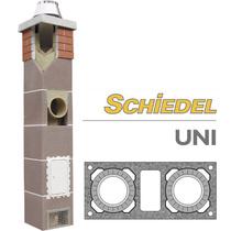 Комплект двухходового дымохода с вент. каналом SCHIDEL UNI d140/180, 4 погонных метра