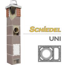 Комплект одноходового дымохода с вент. каналом SCHIDEL UNI d160, 4 погонных метра