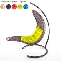 Подвесное плетеное кресло-шезлонг RECLINER (коричневый)