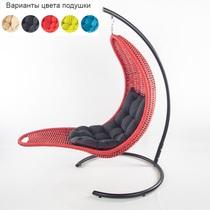 Подвесное плетеное кресло-шезлонг RECLINER (красный)