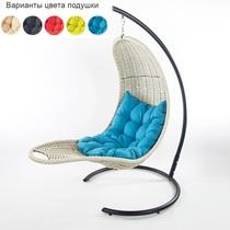 Подвесное плетеное кресло-шезлонг RECLINER (белый)