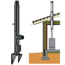 Комплекта дымохода для насадного монтажа SCHIDEL PERMETR черный/серый d130, 4 погонных метра