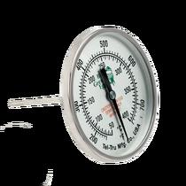 Термометр штатный, круглый Big Green Egg шкала +50/+400С, D76мм