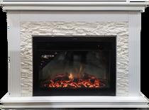 Каминокомплект Сиена сланец J белый 1280х1005х350 (Inter Flame)