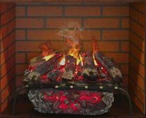 3D SILVA LOG BRICK 26 с вставкой (REAL FLAME) электроочаг