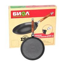 Сковорода чугунная блинная 240 мм. со съемной ручкой (БИОЛ)