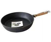 Сковорода чугунная Сотейник 240*60 с деревянной ручкой, Украина (Эколит)