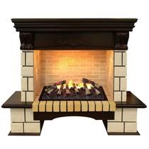 Обрамление STONE LUX 3D 630 античный дуб (Real Flame)