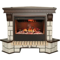 Обрамление угловое STONE NEW 3D 26/HL античный дуб (Real Flame)