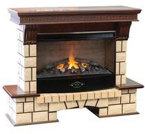Обрамление STONE NEW 3D 33 античный дуб (Real Flame)