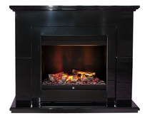 Портал Suite Black (Albany) черный лак 1070х915х400 (Dimplex)