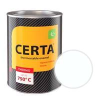 Эмаль термостойкая CERTA (Белая) банка 0,8 кг.