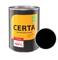 Эмаль термостойкая CERTA (Черная) банка 0,8 кг.