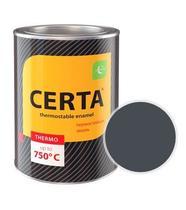 Эмаль термостойкая CERTA (Графит) банка 0,8 кг.