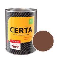 Эмаль термостойкая CERTA (Коричневая) банка 0,8 кг.