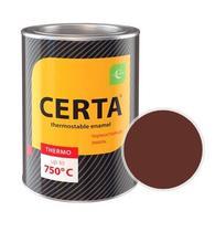 Эмаль термостойкая CERTA (Красно-коричневая) банка 0,8 кг.