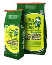 Уголь древесный Big Green Egg органический премиум класса крупнокусковой, пакет 4,5 кг