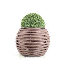 Вазон плетеный Бочонок коричневый 400мм, 25 литров (Россия)